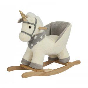 Đồ Chơi Ngựa Bập Bênh Phát Nhạc - Màu Xám