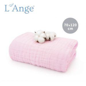 Khăn tắm L'Ange 70x120 hồng
