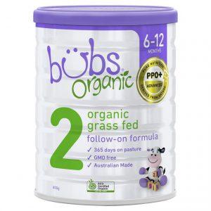 Sữa bò Bubs Organic 800g số 2 (6-12m)