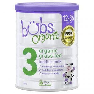 Sữa bò Bubs Organic 800g số 3 (12-36m)