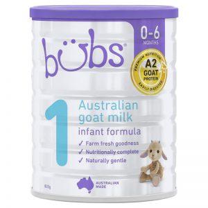 Sữa dê Bubs 800g số 1(0-6m)