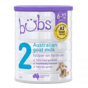 Sữa dê Bubs 800g số 2 (6-12m)