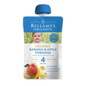 Túi trái cây nghiền Bellamy 4m chuối táo yến mạch