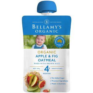 Túi trái cây nghiền Bellamy 4m táo sung yến mạch