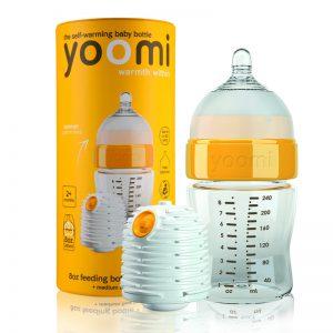 Bình sữa PP Yoomi 140ml + củ ủ ấm