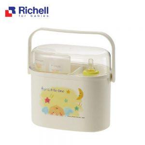 Hộp úp bình sữa có nắp Richell
