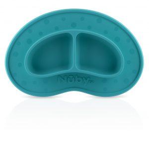 Khay dính bàn ăn dặm Nuby xanh dương