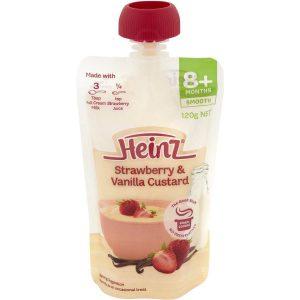 Váng sữa túi Heinz dâu 8m