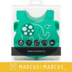 Yếm ăn dặm silicon Marcus xanh lá